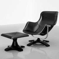 KARUSELLI LOUNGE CHAIR WITH FOOTSTOOL